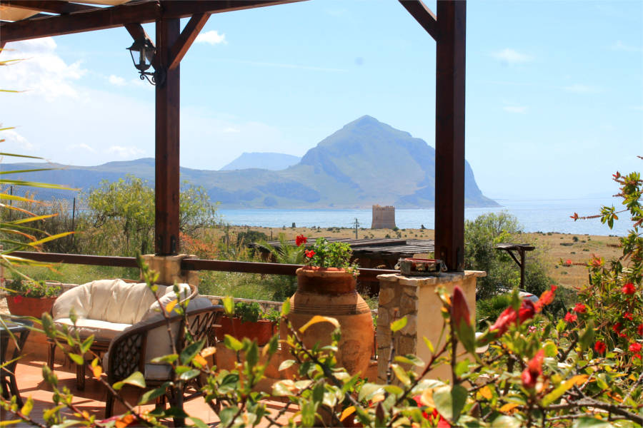 Veranda con vista sulla baia