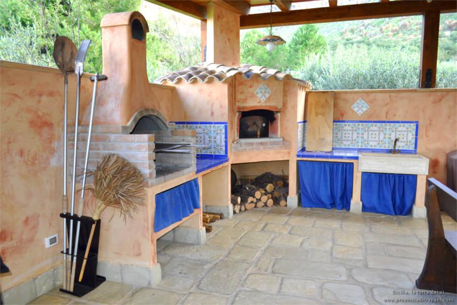 Barbecue e forno  legna