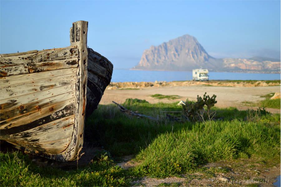 Monte Cofano, punto che chiude rima